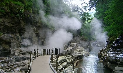 OYASUKYO GORGE HOT SPRING FOUNTAIN